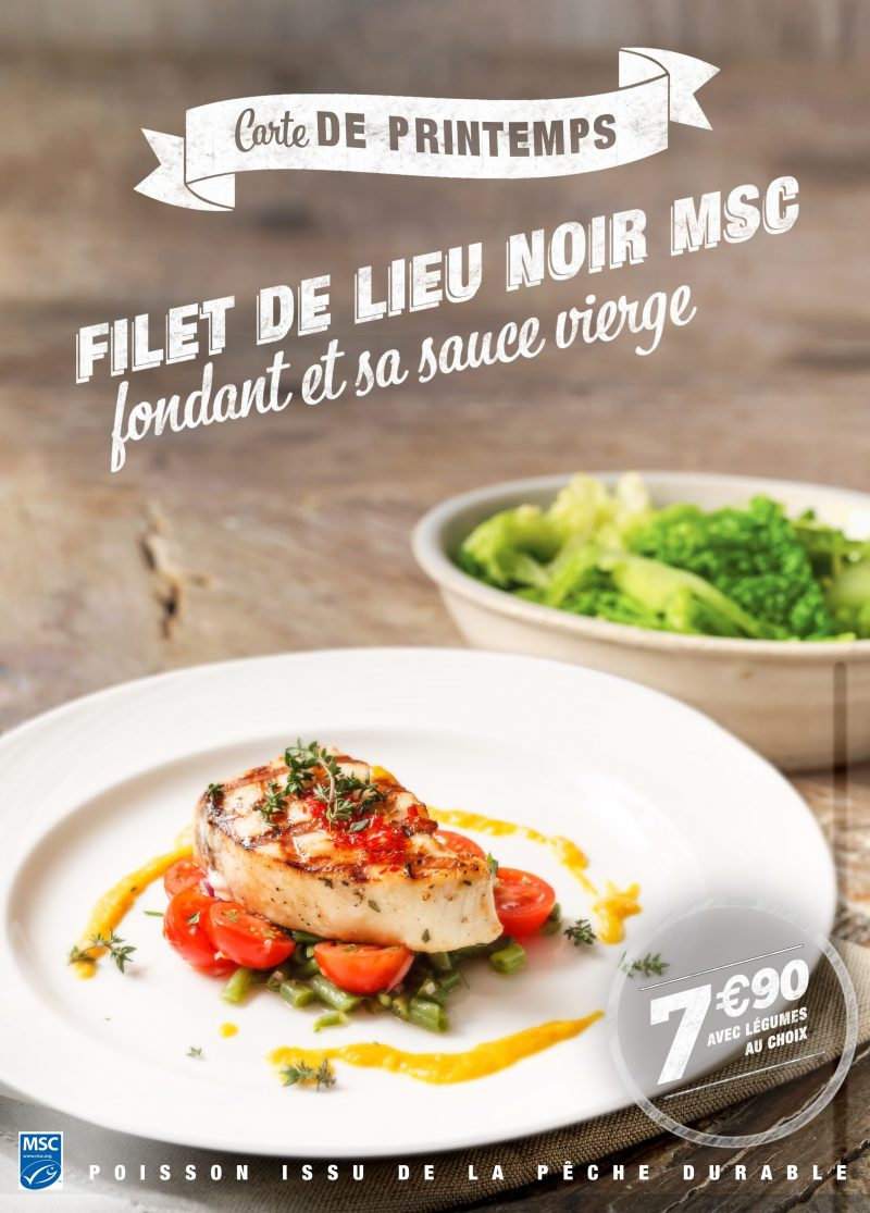 Filet de lieux noir msc - carte printemps - flunch